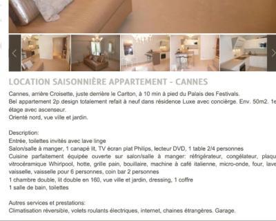 Carlton Riviera Apartment, Wohnung Cannes