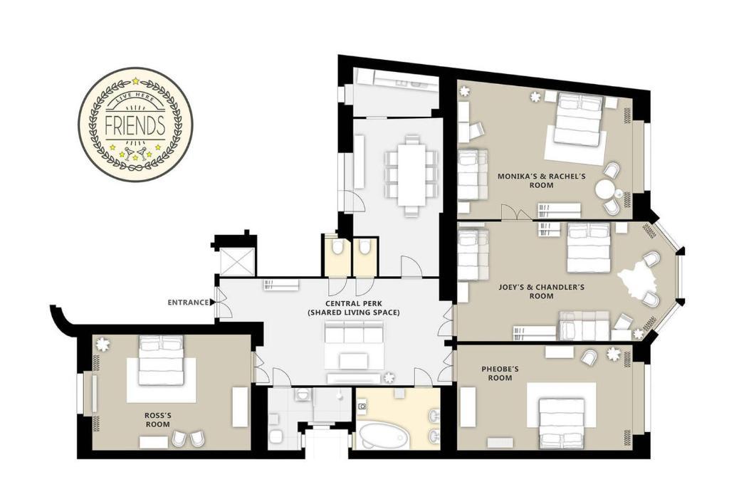 plan appartement friends