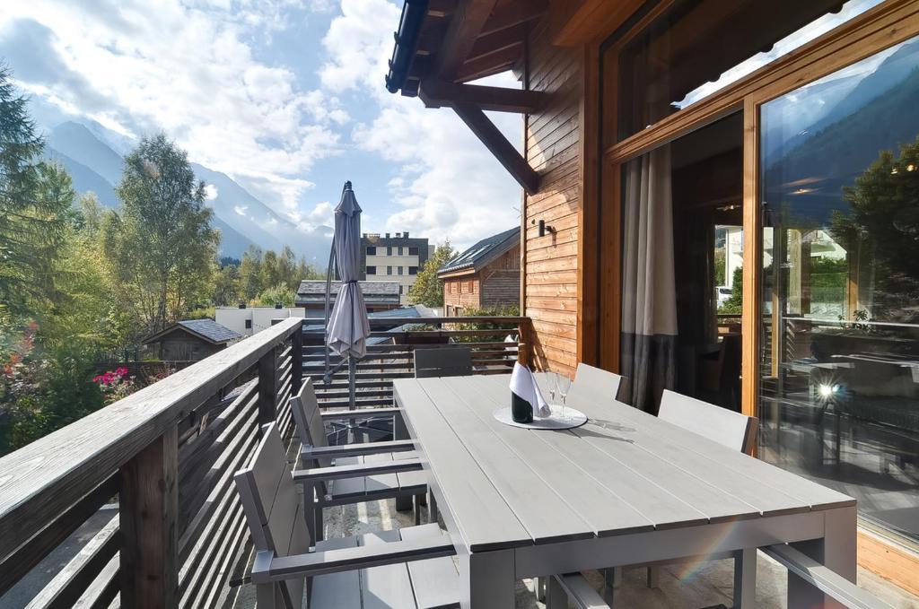 Chalet moderne vue Mont Blanc à Chamonix