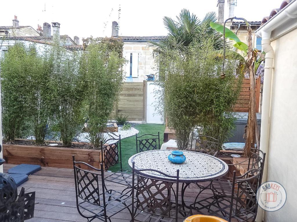 Mobilier De Jardin Merignac maison de ville à bordeaux avec jardin et jacuzzi, maison de