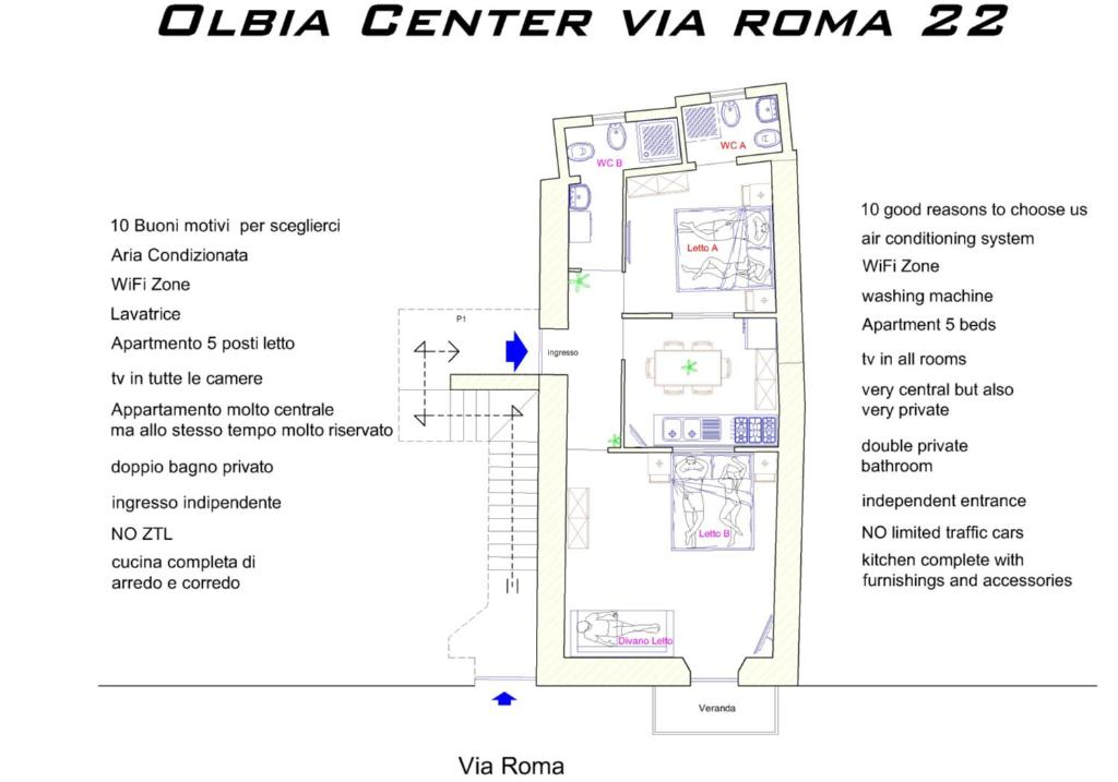 Arredo Bagno Roma Eur.Olbia Center Via Roma 22 Apartment Olbia