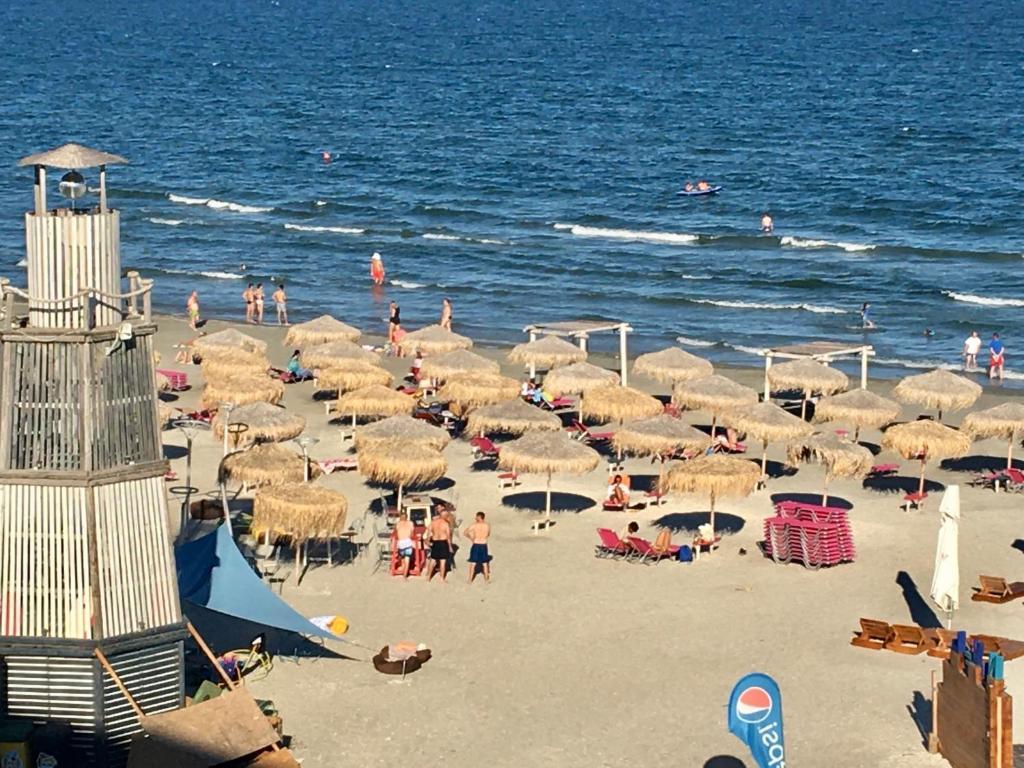 pe plajă cu varicoză)