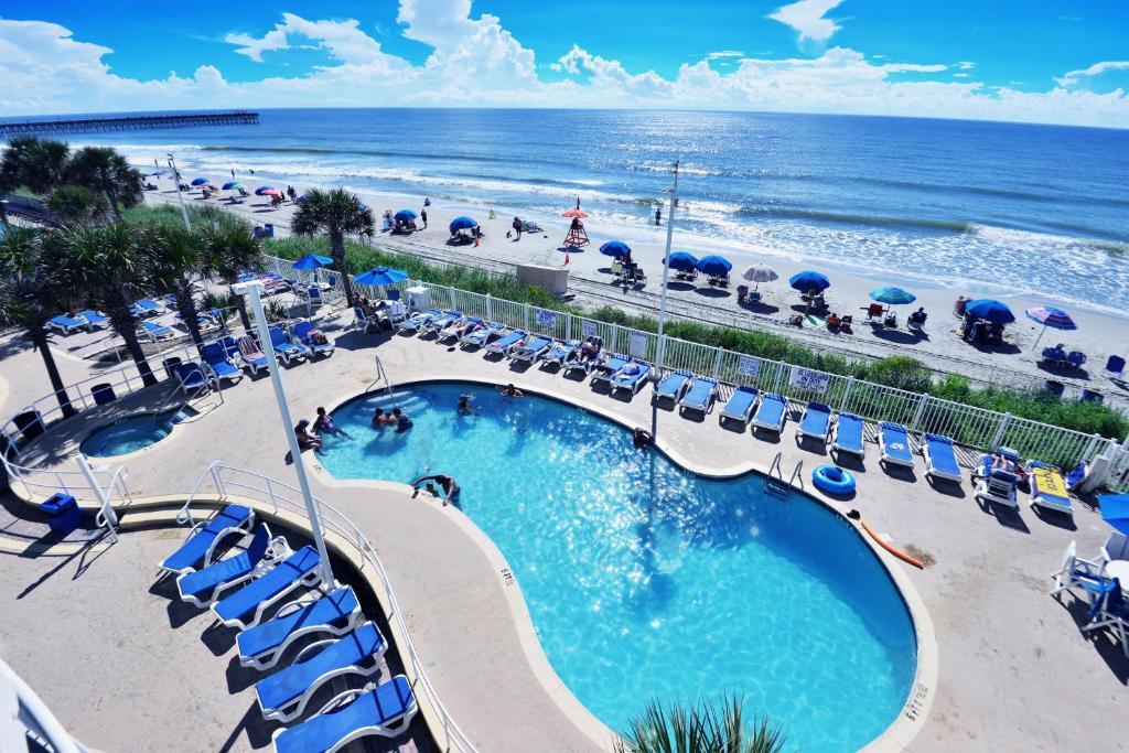 Deluxe Ocean Front 2 Bedrooms Condo In Sandy Beach Resort Appart Hotel Myrtle Beach