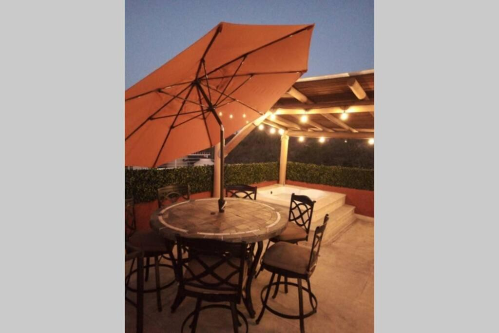 Roof Garden Spa Asador Alberca 6, Sorbus 10 Ft Outdoor Patio Umbrella With Solar Charging Led Lights