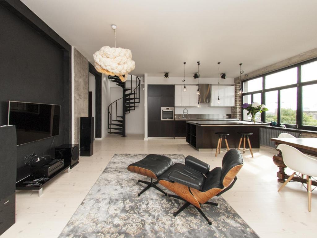 Riga Luxury Loft With Terrace Apartments Riga