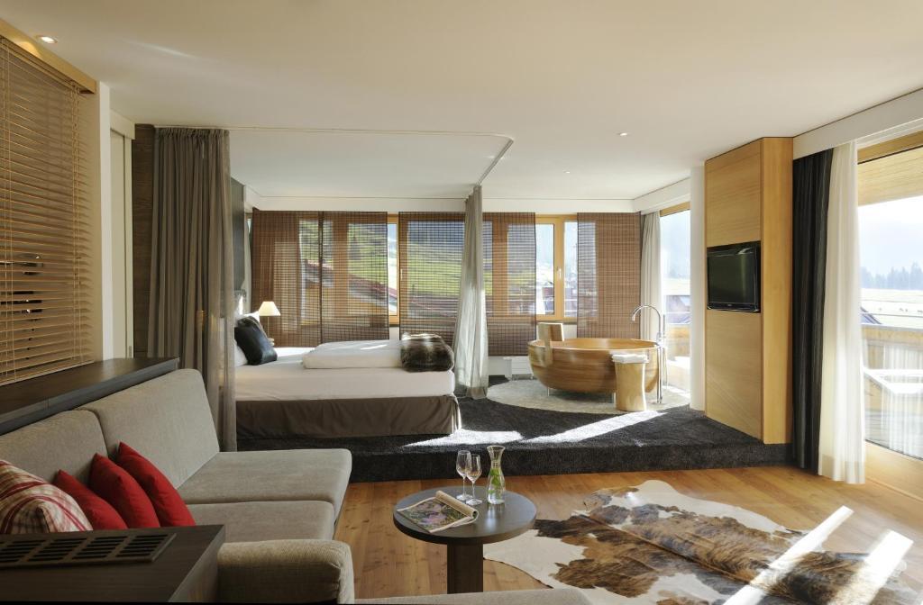 hubertus alpin lodge spa oberstaufen informationen und buchungen online viamichelin. Black Bedroom Furniture Sets. Home Design Ideas