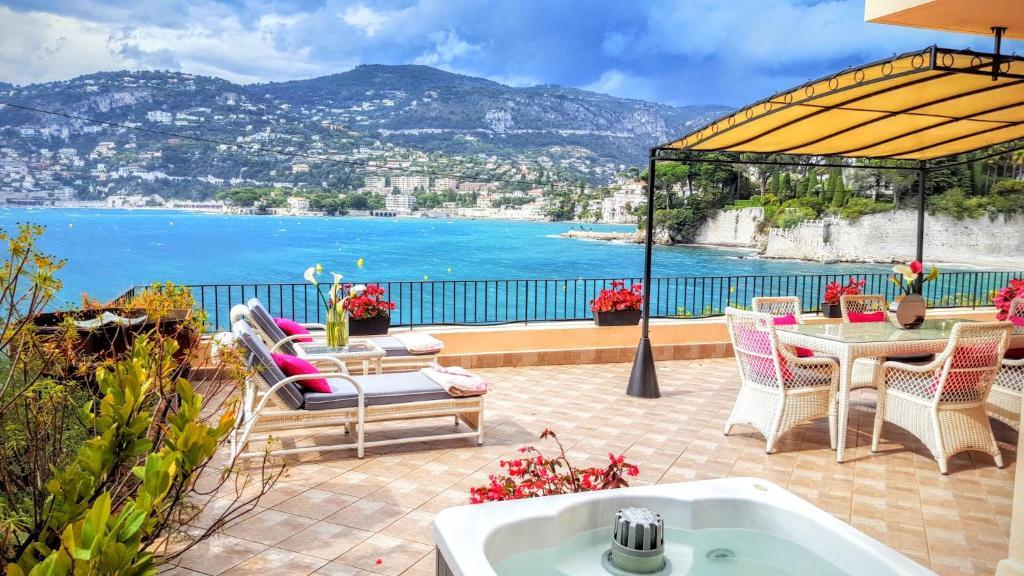 Apartment Cap Ferrat Luxury Terrace Sea Front Apartment in Saint