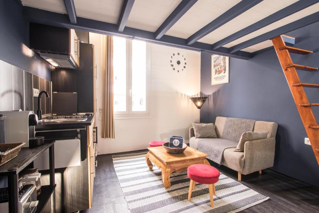 Studio Mezzanine Bleu, Wohnung Roquebrune Cap Martin
