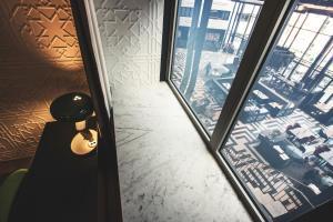 Jednolůžkový pokoj s výhledem do vnitrobloku