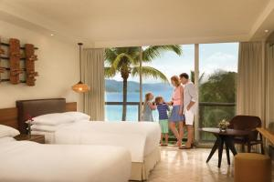 Partial Ocean View Two Double Beds