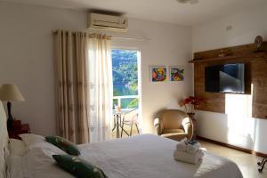 Dobbeltværelse med balkon og havudsigt