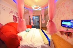 Zhaoxiahong Art hotel, Проживание в семье  Wujiaqiao - big - 159