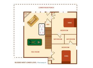 Blessed Nest - Four Bedroom, Holiday homes  Sevierville - big - 31