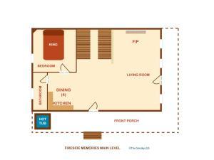 Fireside Memories - Two Bedroom, Dovolenkové domy  Sevierville - big - 4