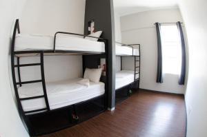 Bett im Vierbettschlafsaal mit eigenem Bad