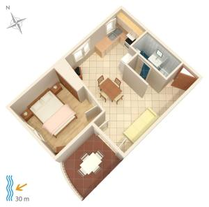 Apartment Brodarica 4194b, Apartmanok  Brodarica - big - 12