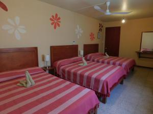 Room with Three Double Beds