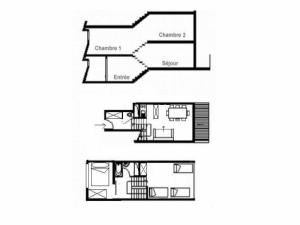Apartment Danchet, Appartamenti  Les Menuires - big - 4