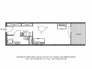 Apartment Les charmettes, Appartamenti  Les Menuires - big - 4