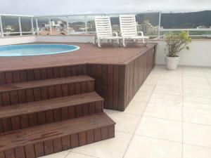 Apartamento Cobertura Com Piscina Privativa Praia Ingleses, Apartmány  Florianópolis - big - 3