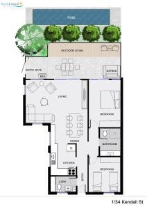 1/34 Kendall Street, Byron Bay - Chateau Relaxo, Apartmanok  Byron Bay - big - 14