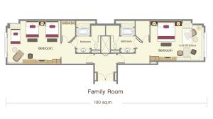 Family Room with Free Round-trip Airport Transfer