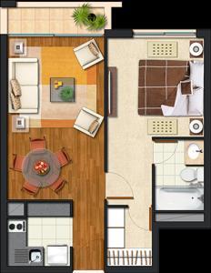 Departamento San Miguel, Apartments  Santiago - big - 9