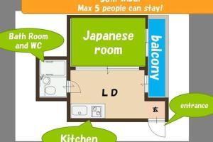 Apartment in Osaka 502610, Apartmanok  Oszaka - big - 15