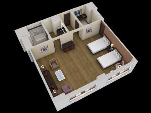Juniorsuite med 2 queensize-senge