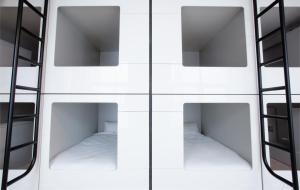 Bett im Schlafsaal