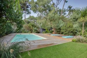 Magnifique villa avec piscine au Cap Feret, Dovolenkové domy  Cap-Ferret - big - 2