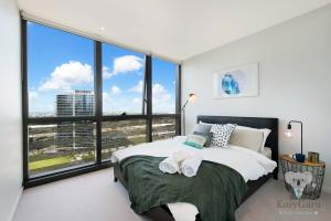 River View 2Bed APT+FREE CAR SPACE Mins to Mel CBD, Apartmanok  Melbourne - big - 10