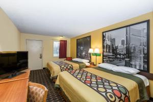 Nekuřácký pokoj se 2 manželskými postelemi velikosti Queen