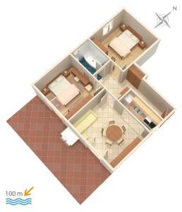 Apartment Vinisce 5229c, Apartments  Vinišće - big - 18