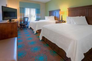 Standard Room with Two Queen Beds and Pool View - Hearing Accessible/Non-Smoking