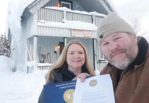 Chata Lapland Snow Cabin Masugnsbyn Švédsko