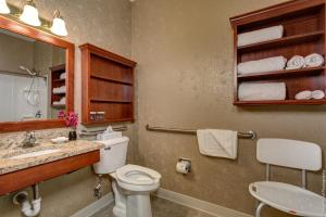 Handicapvenligt værelse med queensize-seng og roll in-bruser - ikkeryger