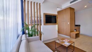 Dvoulůžkové apartmá s oddělenými postelemi a terasou