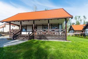 Chata Domek nad jeziorem Załakowo Polsko