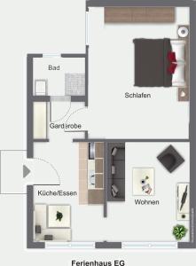 Haus Deichblick - Wulfen auf Fehmarn - [#92207], Dovolenkové domy  Fehmarn - big - 12