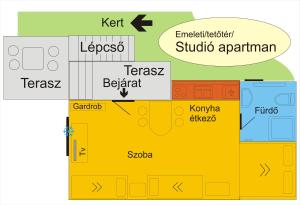 4 Évszak Apartman, Apartmanok  Gyula - big - 36