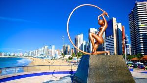 Atlantic Ocean, Apartments  Fortaleza - big - 16