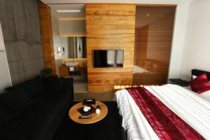 Kamer met Queensize Bed en Balkon