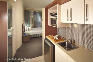 Studiolejlighed med kingsize-seng