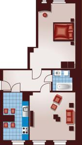 Apartmenthaus Feuerbach, Апартаменты  Лейпциг - big - 9