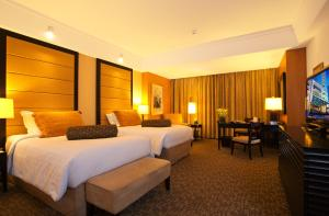 Pokój z łóżkiem typu king-size lub 2 łóżkami pojedynczymi
