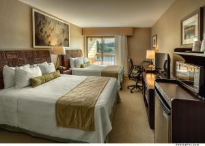 Deluxe Queen Room with Two Queen Beds and Water View