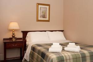 Motel Room with One Queen Bed