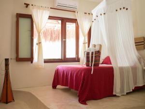 Værelse med queensize-seng på 1. etage