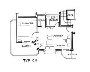 Superior Appartement mit Schlafzimmer und 2 Balkonen